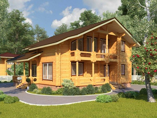 Дом из бруса 11,7х12 Проект БД-38
