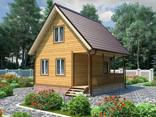 Дом из бруса 6х6 Проект БД-39