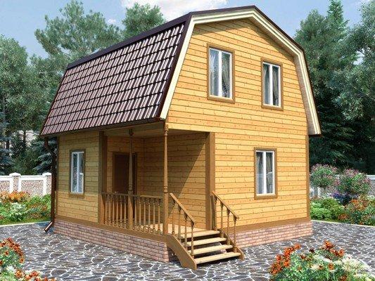 Каркасный дом 6×6 Проект KД-40