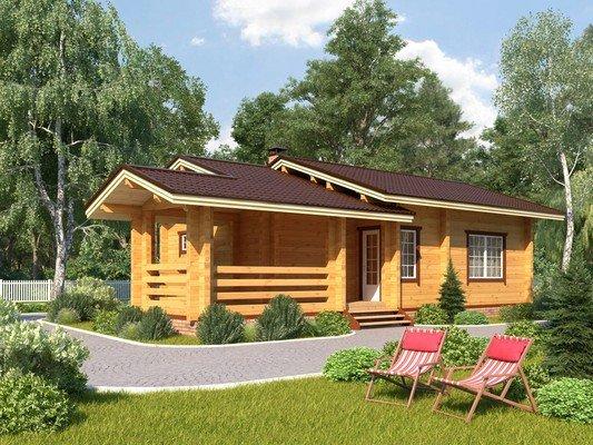 Дом из бруса 7х13 Проект БД-41