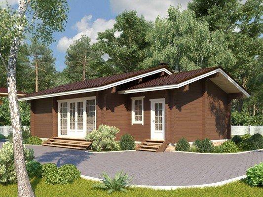 Каркасный дом 8×11,2 Проект KД-42