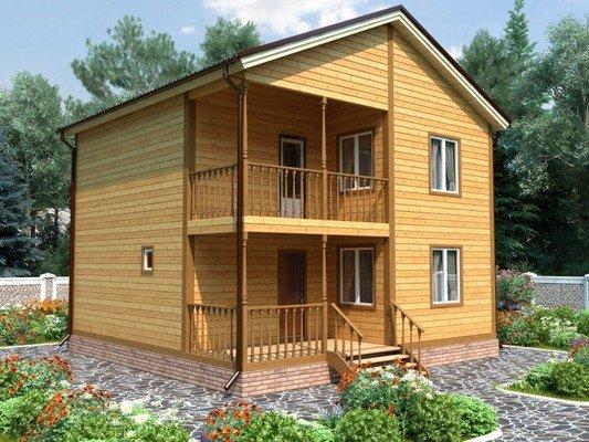 Каркасный дом 8×8 Проект KД-43