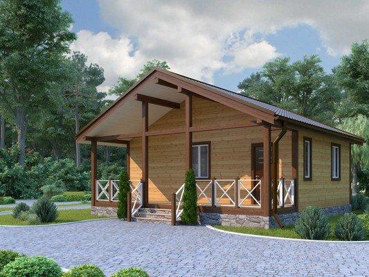 Каркасный дом 8×8 Проект KД-44