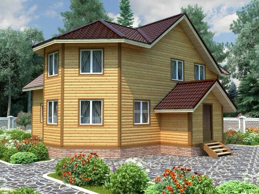 Каркасный дом 11×12 Проект KД-45