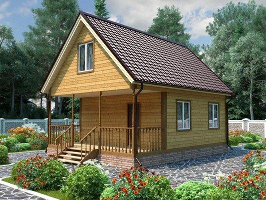 Каркасный дом 6×8 Проект KД-46