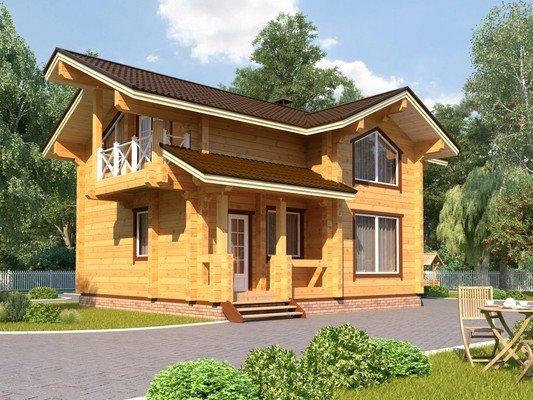 Каркасный дом 7×8 Проект KД-47