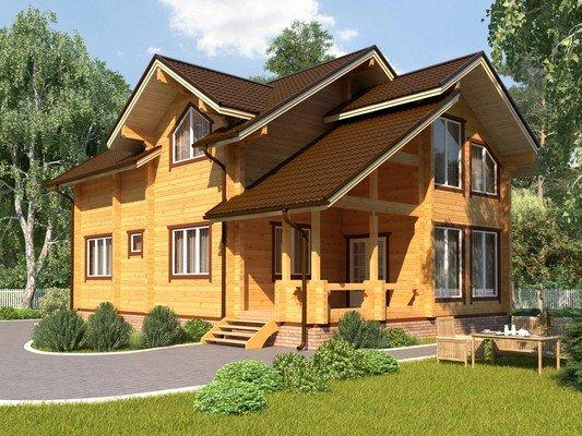Дом из бруса 8,3х13,3 Проект БД-48