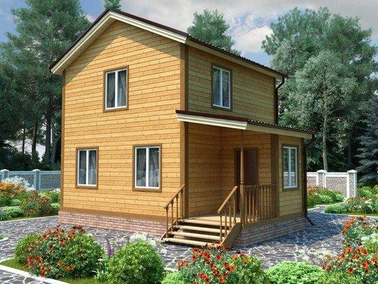 Каркасный дом 6×8 Проект KД-50