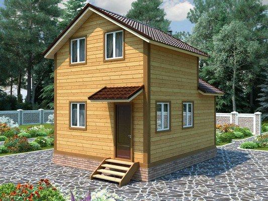 Дом из бруса 5х6 Проект БД-52