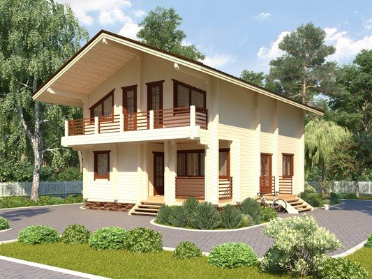 Дом из бруса 7.7х10,2 Проект БД-53