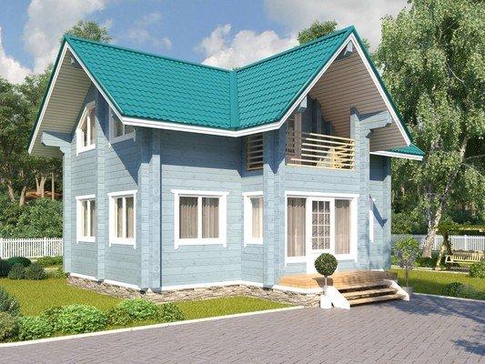 Каркасный дом 6.8×9.2 Проект KД-54