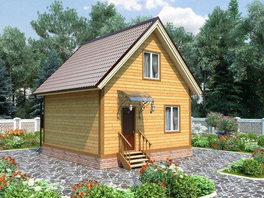 Каркасный дом 6×6 Проект KД-55