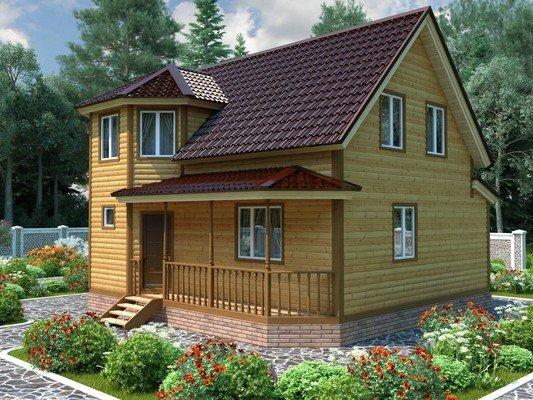 Каркасный дом 8,5×9 Проект KД-56