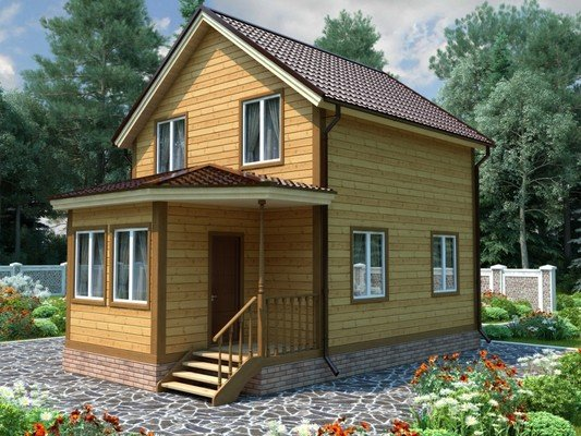 Дом из бруса 6х8,5 Проект БД-57