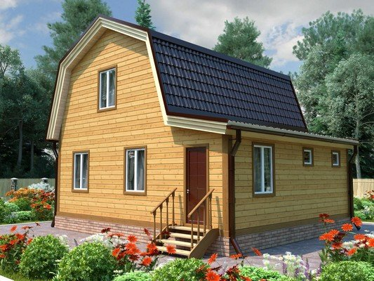 Каркасный дом 7×8 Проект KД-58