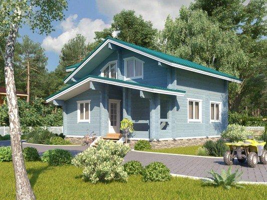 Каркасный дом 8×8 Проект KД-59