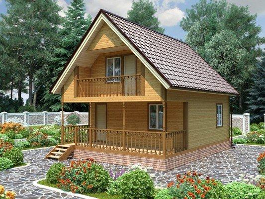 Каркасный дом 6×8 Проект KД-60