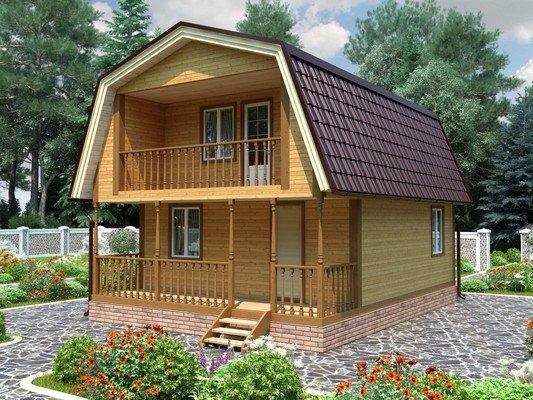 Дом из бруса 6х8 Проект БД-61