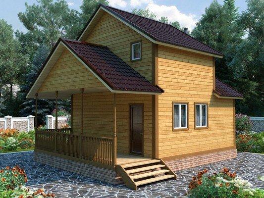 Каркасный дом 6×8 Проект KД-62