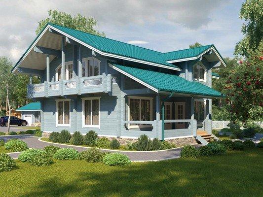 Дом из бруса 12,2х11,8 Проект БД-64