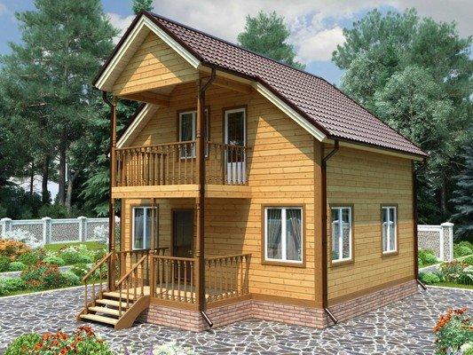 Дом из бруса 7х8 Проект БД-65