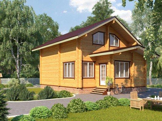Дом из бруса 7х10,6 Проект БД-66