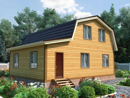 Каркасный дом 9×9,5 Проект KД-67