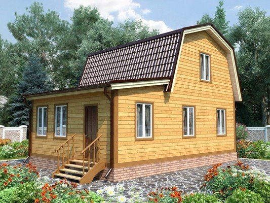 Дом из бруса 6х9 Проект БД-68
