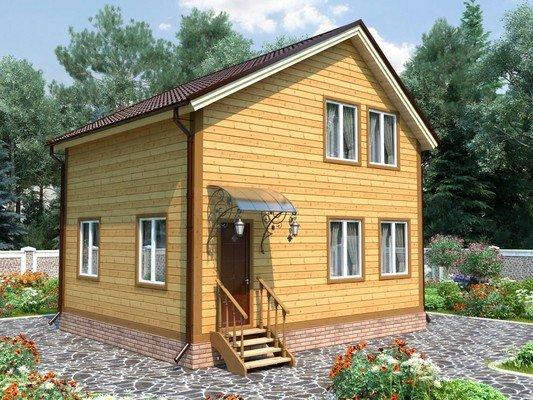 Дом из бруса 6х7,5 Проект БД-71