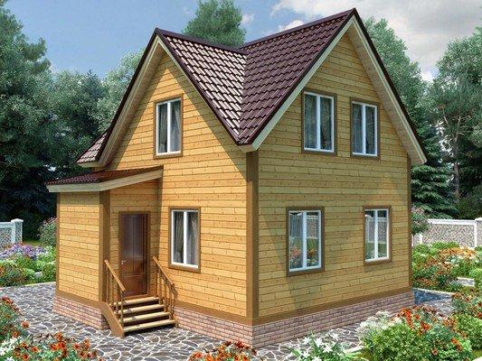Дом из бруса 9х9,5 Проект БД-72