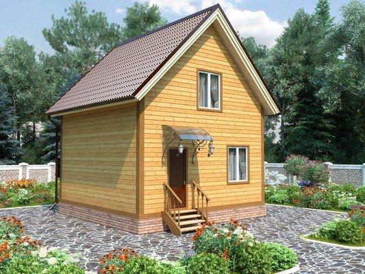 Каркасный дом 6×6 Проект KД-74