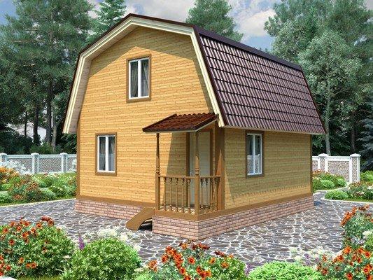 Дом из бруса 6х6 Проект БД-75