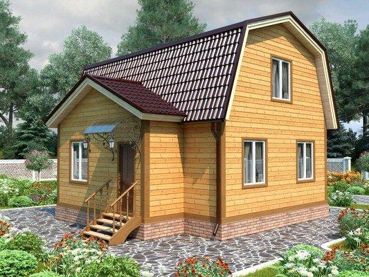 Дом из бруса 6х8 Проект БД-77