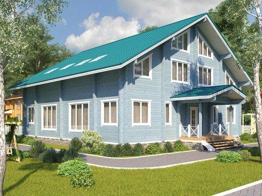 Дом из бруса 14х14 Проект БД-78