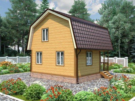 Дом из бруса 6х6 Проект БД-79