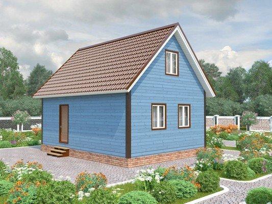 Каркасный дом 6×8 Проект KД-80