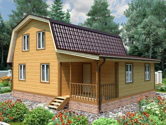 Дом из бруса 8х9 Проект БД-81