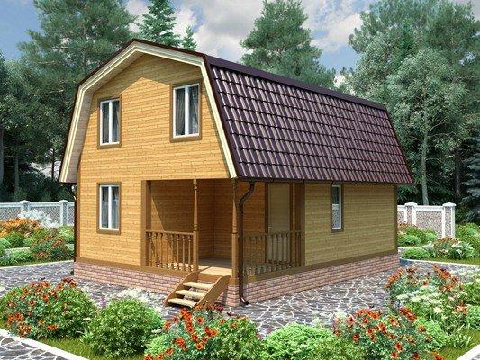Каркасный дом 6×8 Проект KД-82