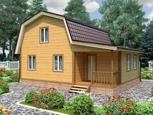 Каркасный дом 7×9 Проект KД-83