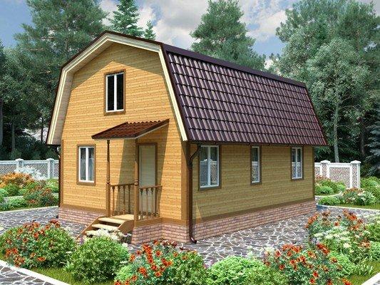 Дом из бруса 6х9 Проект БД-85