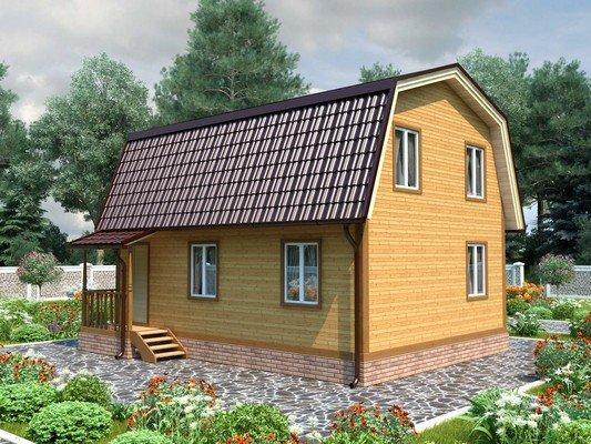 Каркасный дом 7×8 Проект KД-86