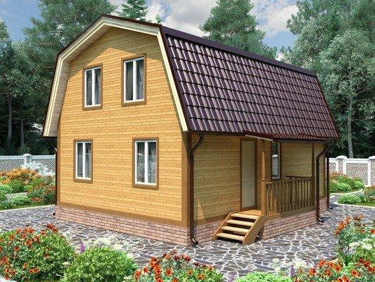 Дом из бруса 7х8 Проект БД-87