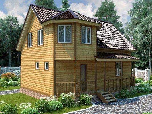 Дом из бруса 8,5х9 Проект БД-88