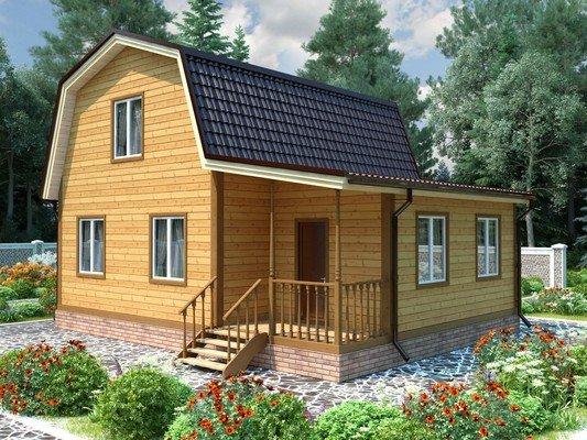 Каркасный дом 7×9 Проект KД-89