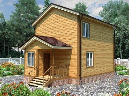 Дом из бруса 6х9 Проект БД-91