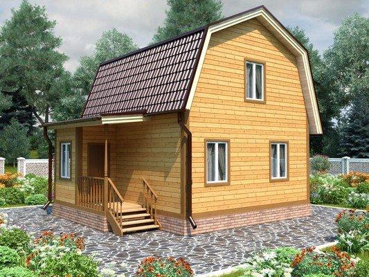 Дом из бруса 6х7,5 Проект БД-92