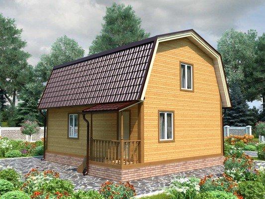 Каркасный дом 7×8 Проект KД-93